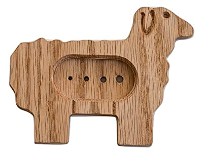 """Sheep Diz Spinning Multi-Tool, Diz with WPI, Durable Red Oak 0.5"""" Thick, Made in USA from P.S. Kreative, LLC"""
