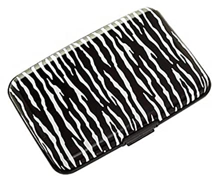751327c1c443 Plixio Zebra Aluminum Wallet & Credit Card Case with RFID Protection