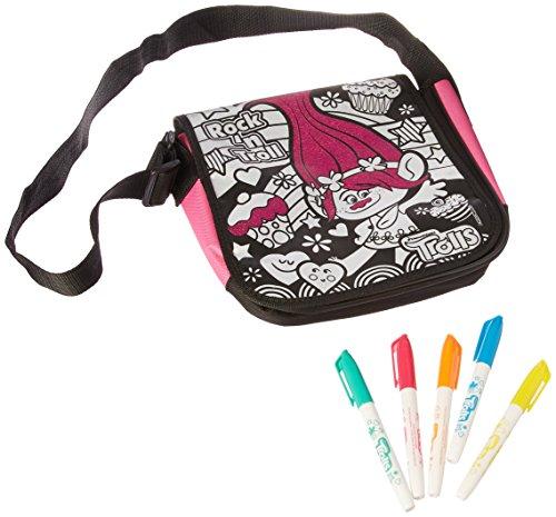 Cra-Z-Art Trolls Messenger Bag Building Kit (Color Messenger Bag)