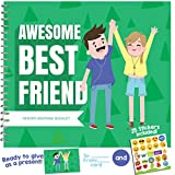 "Best Friend Gifts | Unique booklet with friendship quotes, stickers and frames to add your pictures | Recognition Award for being an awesome bff (my bestie) | 8""x5"" size 