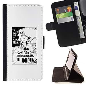 For Samsung Galaxy S6 EDGE (NOT S6) Plus / S6 Edge+ G928 Case , Dreamer Profundo Significado Metáfora Blanca- la tarjeta de Crédito Slots PU Funda de cuero Monedero caso cubierta de piel