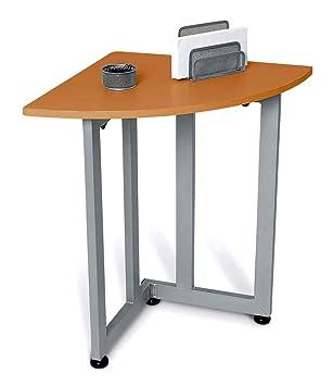 Contemporary quarter round corner table telephone stand cherry watchthetrailerfo