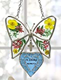 In Loving Memory Bereavement Sympathy Butterfly With Flowers