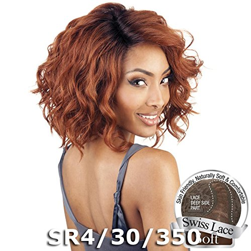 ISIS BROWN SUGAR Human Blended Lace Front Wig - BS206 (#SR4/30/350) by ISIS - Headband Hair Human Wigs
