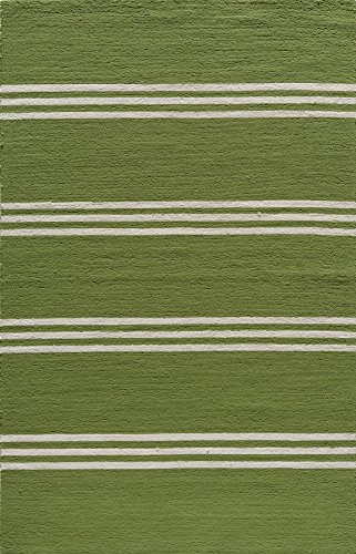 5' x 8' Rectangular Momeni Area Rug VERANVR-16LIM5080 Lime Color Hand Hooked in China