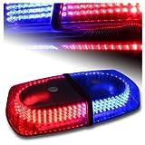 DIYAH 240 LED Law Enforcement Emergency Hazard Warning LED Mini Bar Strobe Light with Magnetic Base (Red and Blue)