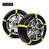 Anti-Skid Snow Tire Chains for Car,Universal Fit SUV Emergency Mud Sand Ice Snow Traction Tire...