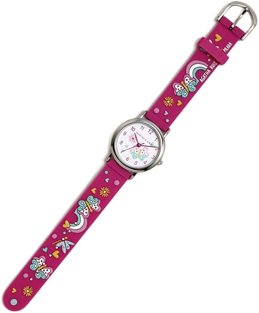 Agatha Ruiz de la Prada Reloj para Niño Analógico Cuarzo japonés con Correa de Silicona AGR295