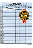 Patient Sign-in Sheets, 8-1/2'' X 11'' (Blue) Carbonless Form (Lot of 125 Sheets) HIPAA Compliant