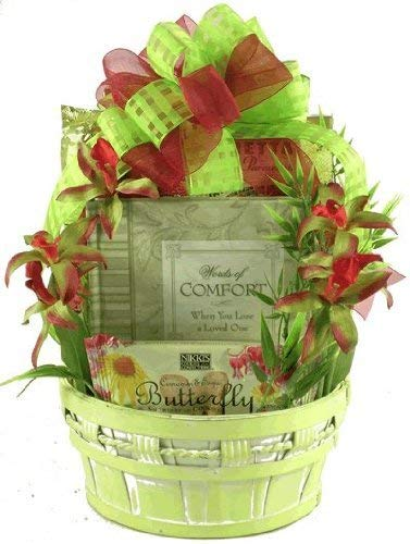 (In Remembrance, Sympathy Gift Basket with Book and Comfort Snacks For Those Grieving The Loss of a Loved One)