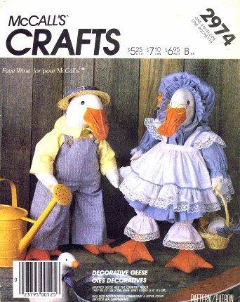 Amazon.com: McCall\'s 2974 Sewing Pattern Stuffed Geese Animal ...