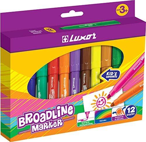 أقلام تحديد ملونة واسعة الخط عبوة من 12 لون ا قلم تحديد الحبر للرسم والتلوين والرسم والفنون أقلام رسم منقطة غير لامعة للأطفال والكبار Amazon Ae