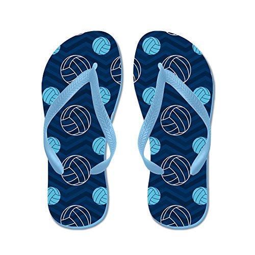 Cafepress Volleyball Blu E Marrone Chevron - Infradito, Sandali Infradito Divertenti, Sandali Da Spiaggia Blu Caraibico