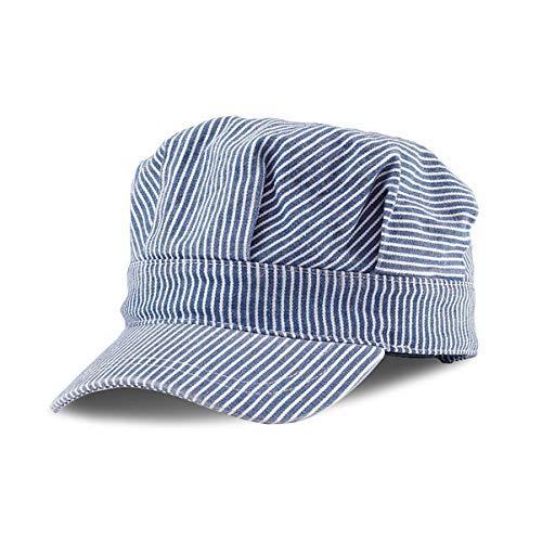 Mega Cap Kids Train Conductor Engineer Hat Youth Size Adjustable Blue Children's Toddler Railroad Caps Hats (55 cm)]()