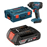 Bosch Bare-Tool 25618BL 18-Volt Lithium-Ion 1/4-Inch Hex Impact Driver  with L-BOXX-2 and Exact-Fit Tool Insert Tray with 2.0 AH battery
