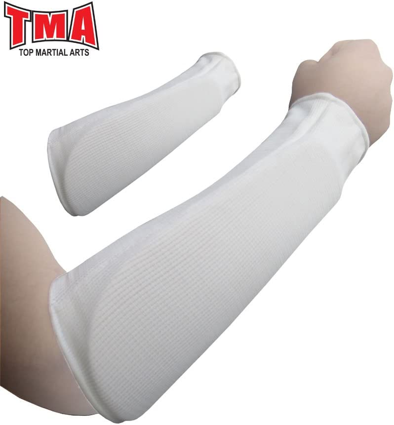 TMA Elbow Sport Forearm Pads Guard Support Sleeve Blue Protective Gear MMA