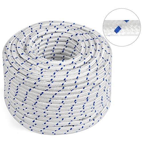 Mophorn 5/16 Inch Double Braid Polyester Rope 150 Feet Nylon Pulling Rope 440LB High Force Polyester Load Sailing Rope for Arborist Gardening Marine