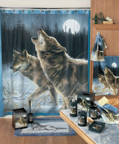 Amazon.com: Grey Timber Wolf Wolves Bath Mat Accent Rug: Home ...
