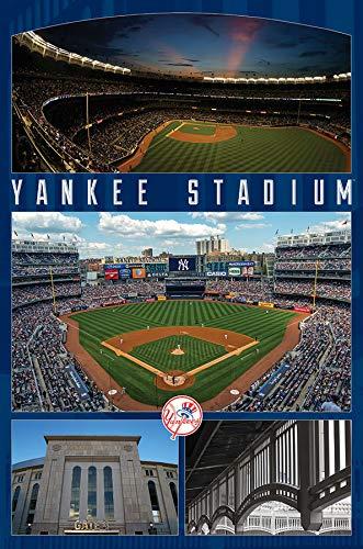 Trends International New York Yankees-Stadium Mount Bundle Wall Poster, 22.375