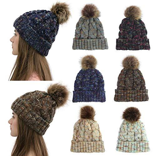 Partm Winter Warm Twist Knitting Wool Hat Headgear