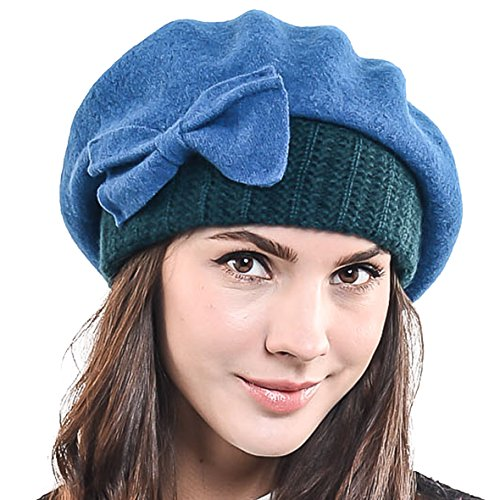 Lady French Beret 100% Wool Beret Chic Beanie Winter Hat HY023 - Buy ... 91168e4460f3