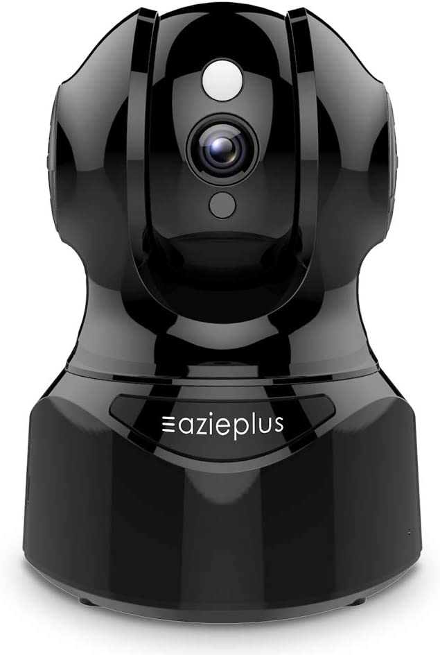 Security Camera, EAZIEPLUS Full HD 1080P WiFi Camera with 2 Way Audio, Indoor Pan-Tilt-Zoom Home Camera IR Night Vision & Motion Detection Alerts, Compatible with Alexa, with TF Card Slot and Cloud