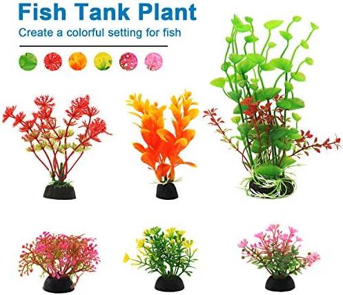Plantas artificiales para decoraciones para acuarios 6