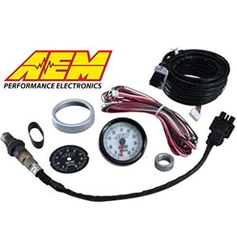 AEM 30-5130 Analog Wideband Air/Fuel Ratio Gauge with Black and White Face - Fuel Ratio Gauge Kit