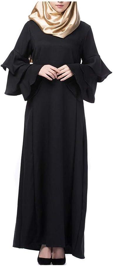 MERICAL Moda Casual Mujeres Musulmanas Sueltas Color sólido Traje ...