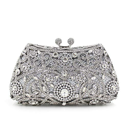 Sac Dîner Silver Diamant Sac Mode à De Mariée Sac Main D'embrayage wzqRZaqg
