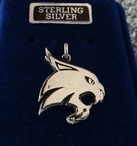 Charm - Sterling Silver - Jewelry - Pendant - San Marcos Bobcat Mascot (Jewelry Silver San Marco)