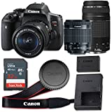 Canon EOS Rebel T6i 24.2 MP CMOS Digital SLR Camera with 3.0-Inch LCD with EF-S 18-55mm f/3.5-5.6 IS STM Lens and EF 75-300mm f/4-5.6 III Lens – Wi-Fi Enabled (Certified Refurbished)