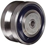 RWM Casters VFR-0630-12 6-Inch Diameter X 3-Inch Width Forged Steel V-Groove Wheel with Straight Roller Bearing, 7000-Pounds Capacity