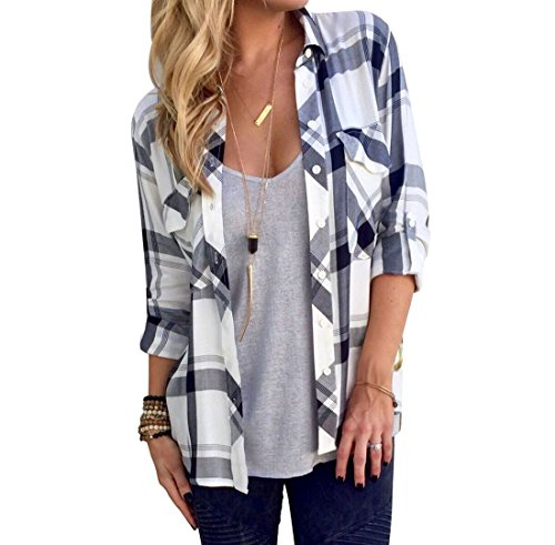 Black And White Flannel Shirt - 3