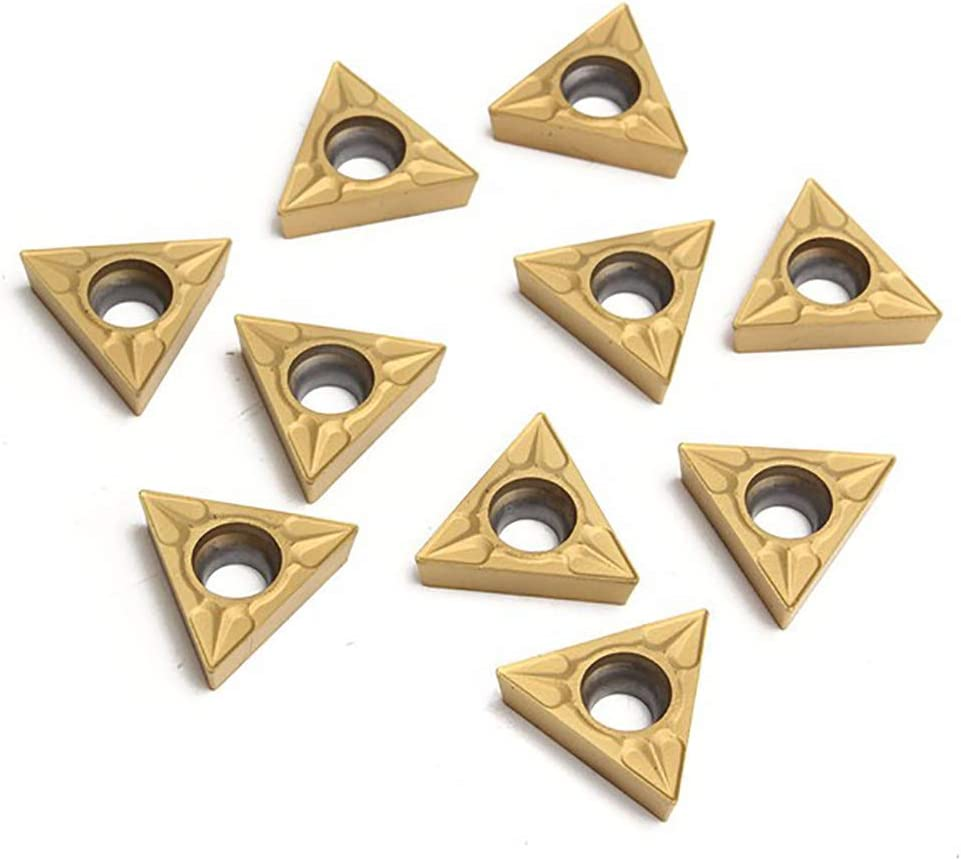 Uticon Carbide Inserts,10Pcs Durable TCMT 16T304 Triangular Tungsten Steel Carbide Inserts Turning Tool