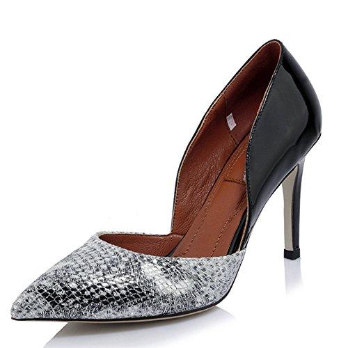 Nine SevenPumps Heels - Sandalias con cuña mujer Piel De Serpiente