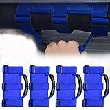 4 x Roll Bar Grab Handles Grip Handle for Jeep Wrangler YJ TJ JK JK JL JLU Sports Sahara Freedom Rubicon X & Unlimited 1955-2018 (Heavy Duty Blue): more info