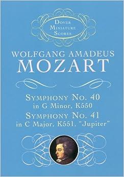 モーツァルト: 交響曲 第40番 ト短調 KV 550、第41番 ハ長調  「ジュピター」 KV 551/ドーヴァー社/小型スコア