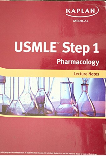Kaplan USMLE Step1, Pharmacology