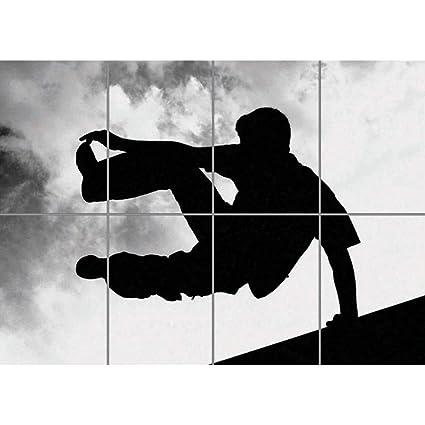 amazon com doppelganger33ltd parkour free running poster giant bw