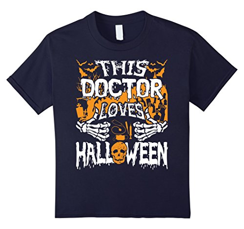 Kids This Doctor Loves Halloween Shirt Gift for Doctor 12 Navy (Surgeon And Patient Halloween Costume)