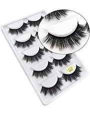 Coollooda Natural Thick Handmade Fake Eye Lashes Makeup Extension 5 Pair Pack 3D False Eyelashes G800