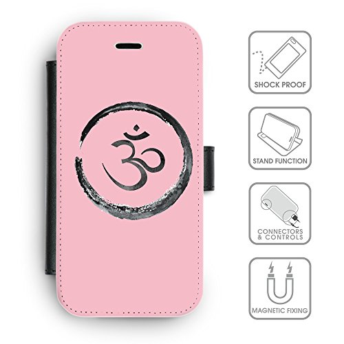 Flip PU Leather Wallet Case avec des fentes de carte de crédit // Q07660630 Bouddha 1 Rose // apple iPhone 6s 2015