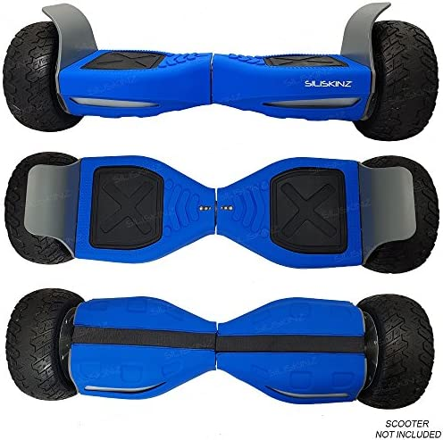 """SILISKINZ® Hoverboard Silicone Jelly Case Cover - pour Tout Terrain 8.5""""Swegway 2 Wheel Smart Scooter"""