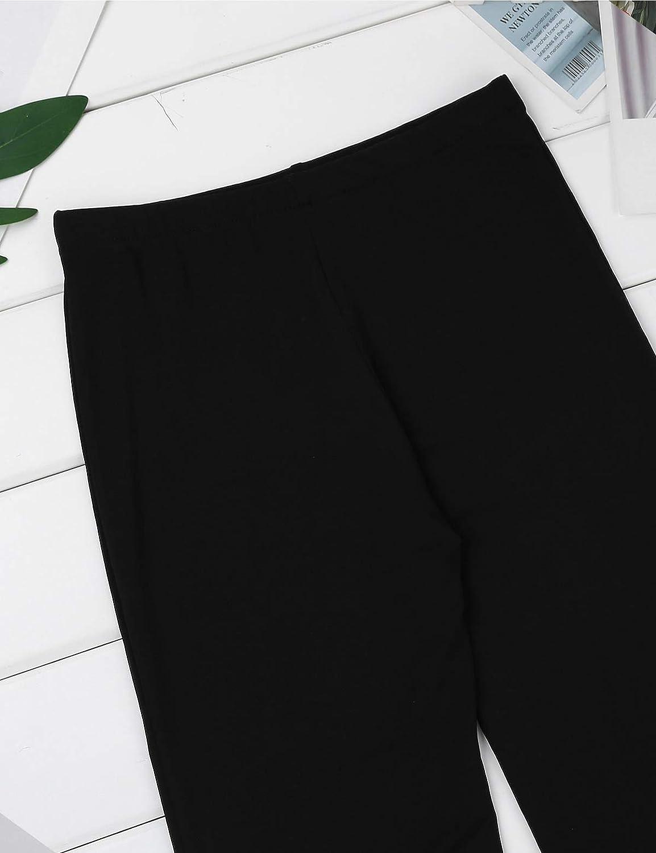 Agoky Enfant Gar/çon Fille Pantalon Longue Danse Jazz Moderne Pantalon /Évas/é Soir/ée F/ête Partie Bal Legging Danse Gala Classique Taille Haute Pants Trousers Dancewear 6-14 Ans