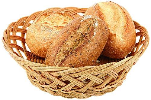 Polyrattan Bread Basket - Paderno World Cuisine Round Polyrattan Bread Basket, 9-Inch