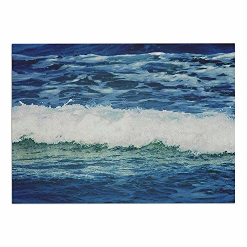 "KESS InHouse CV1020ADM02 Chelsea Victoria ""Sink Back Into"" Coastal Blue Dog Place Mat, 24"" x 15"" 60%OFF"