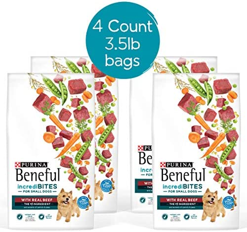 Purina Beneful Small Breed Dry Dog Food, IncrediBites With Real Beef – 4 3.5 lb. Bags