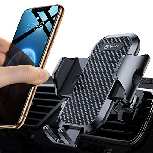 Andobil Car Phone Mount 2019 Easy Clamp New Upgrade Ultimate Phone Holder for Car Air Vent Cell Phone Mount Handsfree Compatible for iPhone 8 Plus/8/X/XR/XS/7 Plus Samsung S10/S9/S8 and More Black