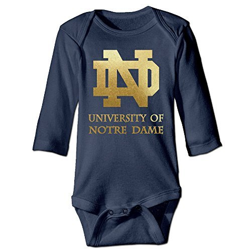 University Of Notre Dame Cool For Climbing Clothes Infant Rompers Navy